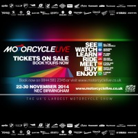Motorcycle Live 2014 – tickets on sale now!