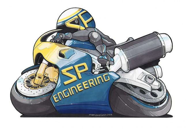 SP Engineering Bike Logo